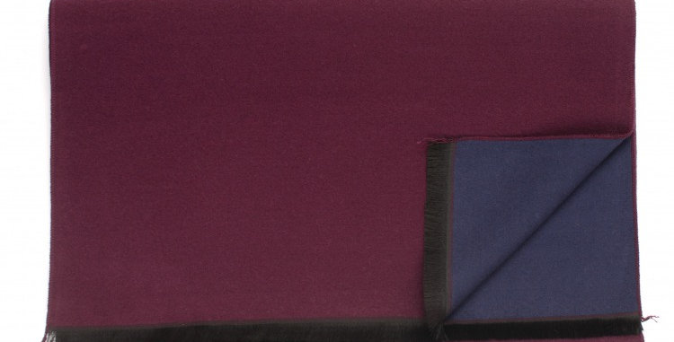 Burgundy/Navy Double Sided Scarf