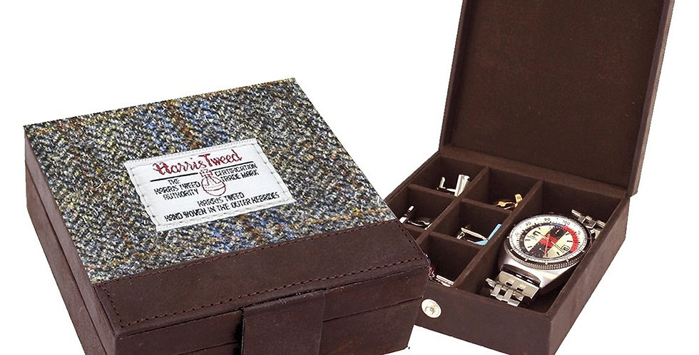 Brown Harris Tweed Trinket Box
