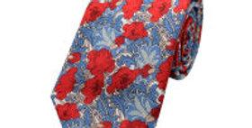 Liberty Print Blue 'Poppy' Tie