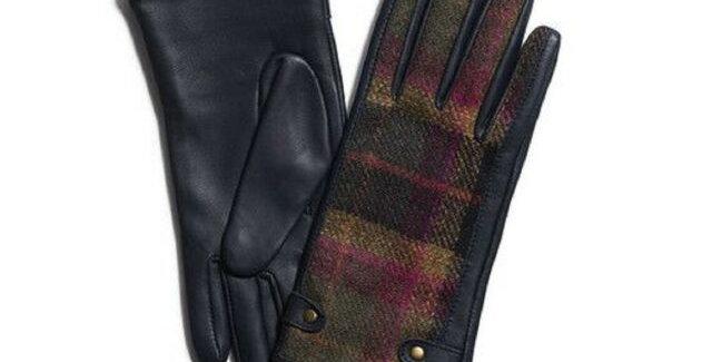 Ladies Tweed & Leather Gloves