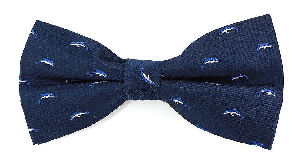 Navy Dolphin Bow Tie