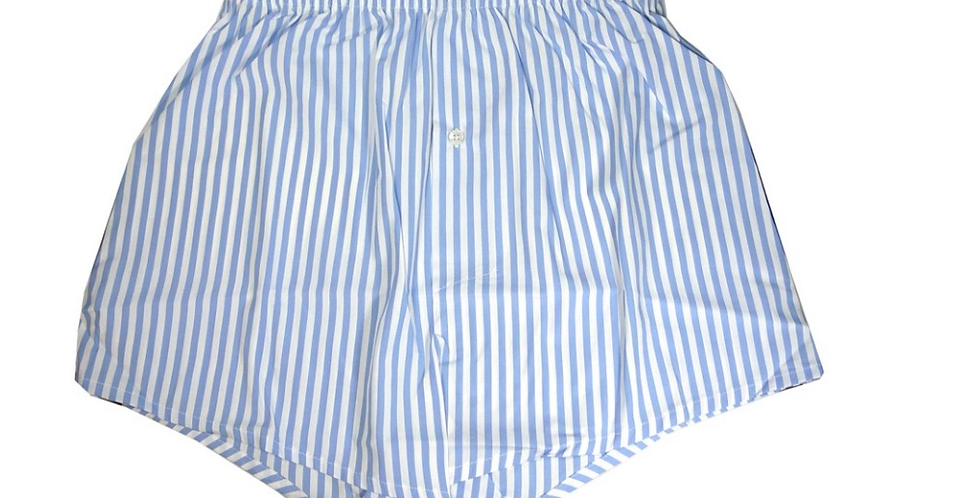 Light Blue Striped Boxers