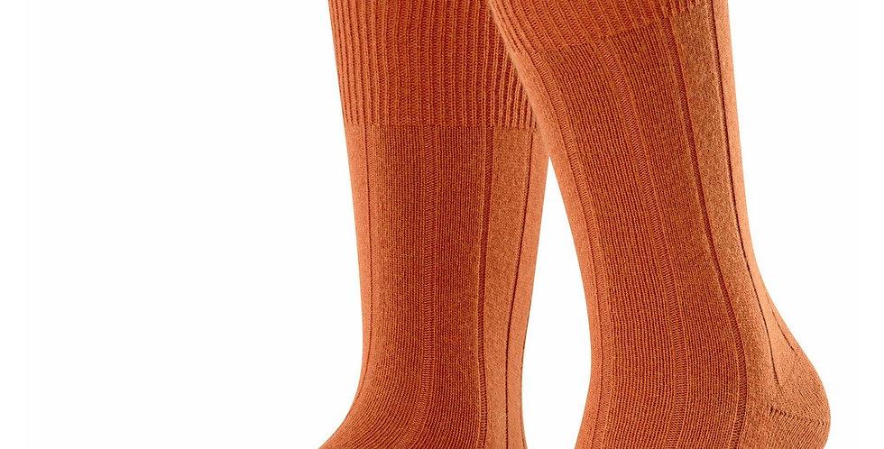 Burnt Orange Cashmere Blend Socks