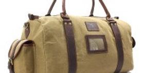 Khaki Waxed Canvas Weekend Bag