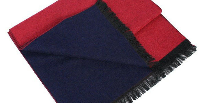 Reversible Navy & Red Scarf