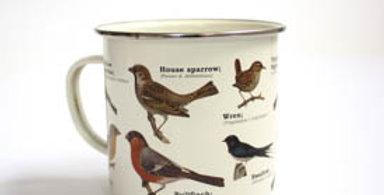 Enamel Wild Birds Mug