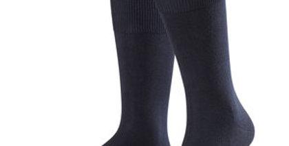 Navy Cotton & Cashmere Socks