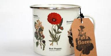 Enamel Wild Flowers Mug