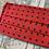 Thumbnail: Silk Red & Navy Small Spot Face Mask