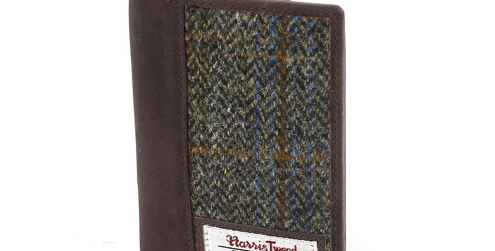 Brown Harris Tweed Passport Holder
