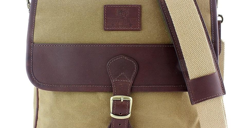 Khaki Waxed Canvas Crossbody Bag