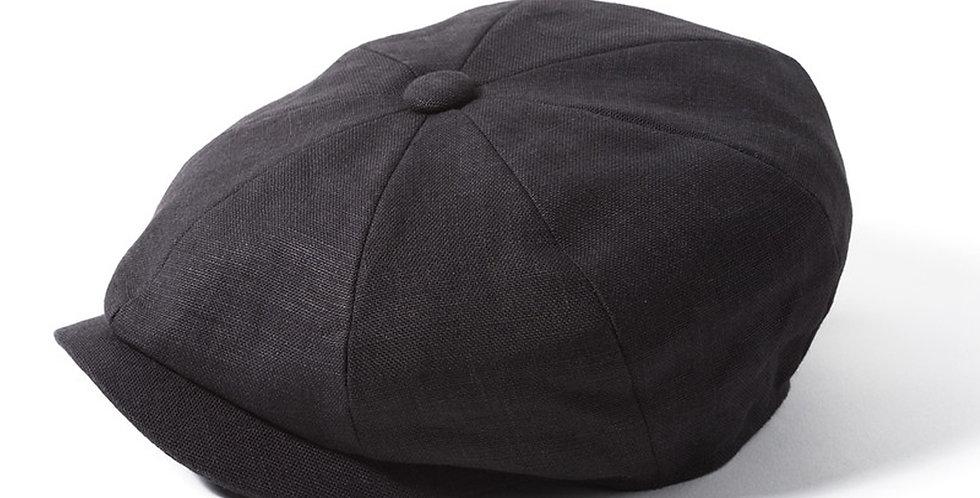 Charcoal Linen 8 Piece Cap