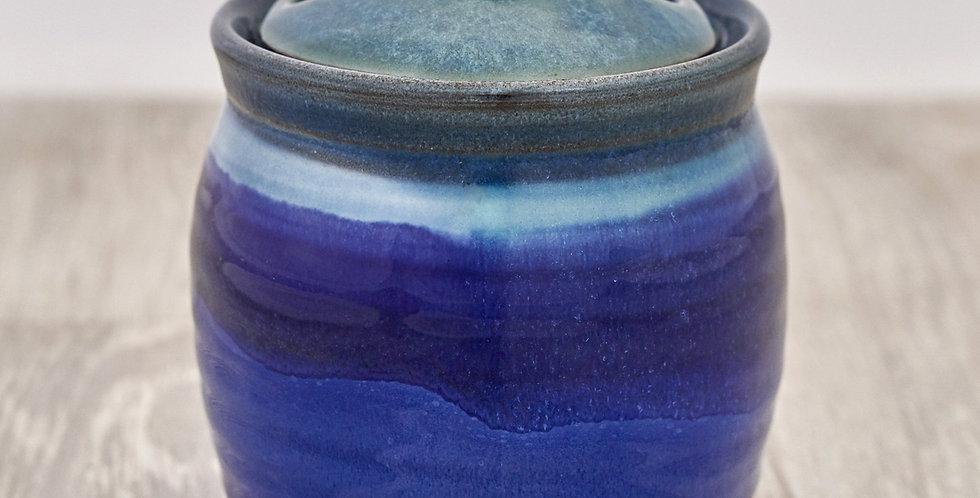 Deep Blue Garlic Pot