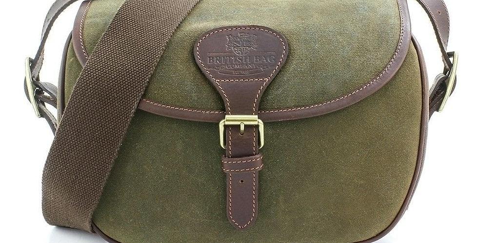 Green Waxed Canvas 'Cartridge' Bag