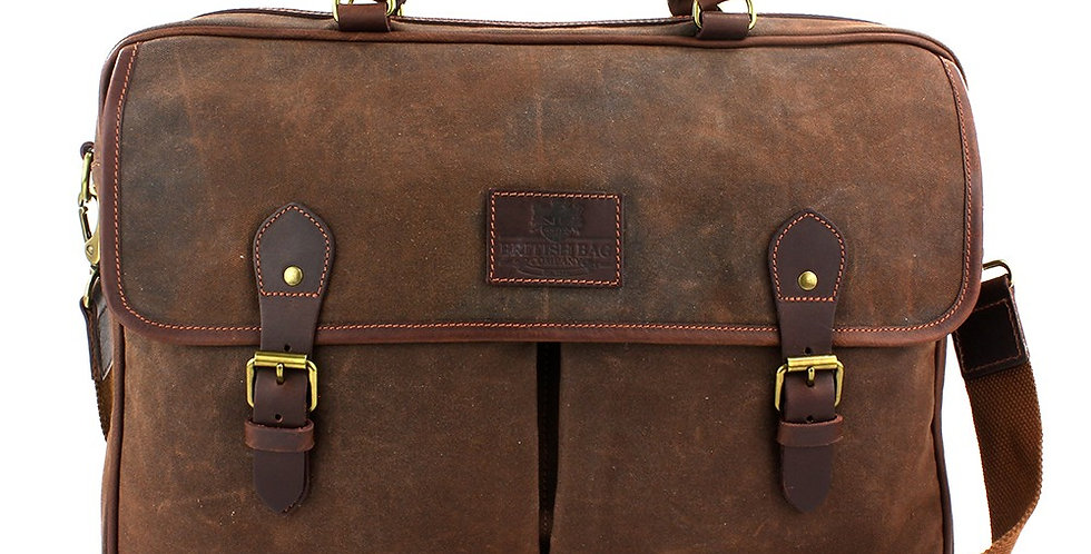 Brown Waxed Canvas Messenger Bag
