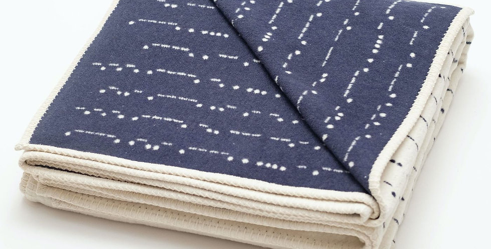 Morse Code Recycled Cotton Blanket
