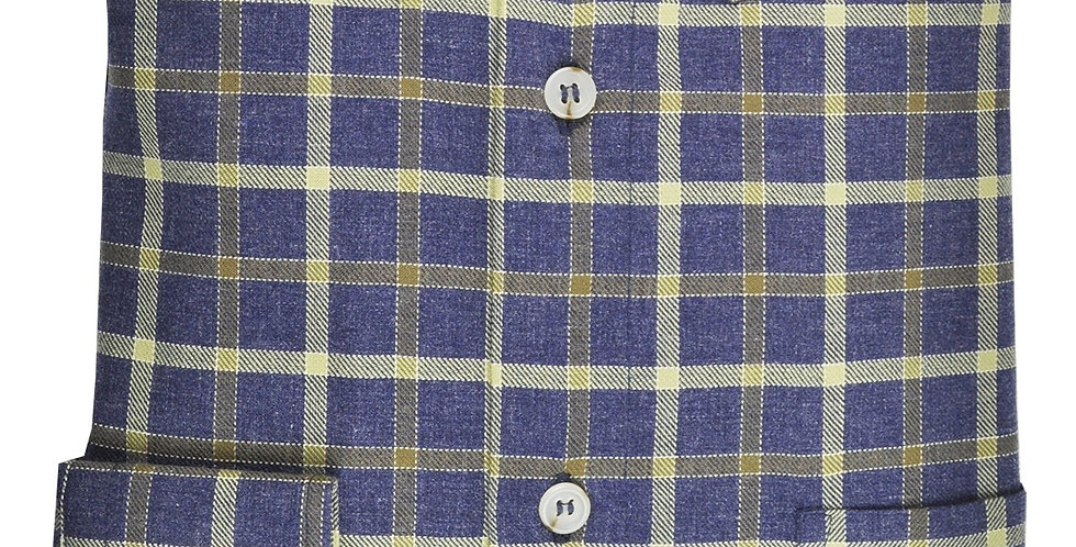 Olive Plaid Twill Shirt