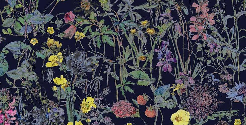 Liberty Print Navy 'Wild Flowers' Pocket Square