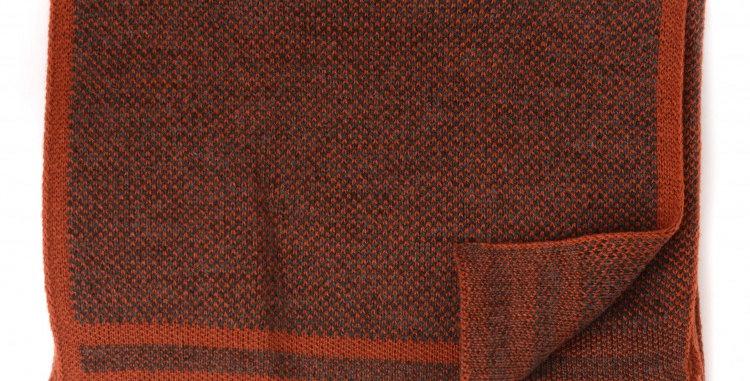 Fine Knitted Burnt Orange Scarf