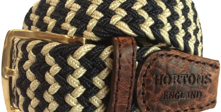 Navy & Cream Woven Belt