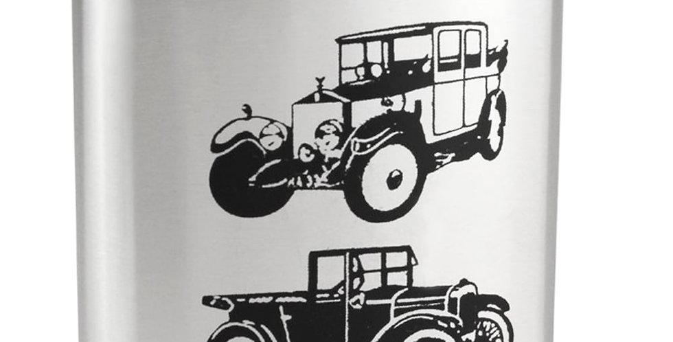 'Vintage Cars' Hip Flasks