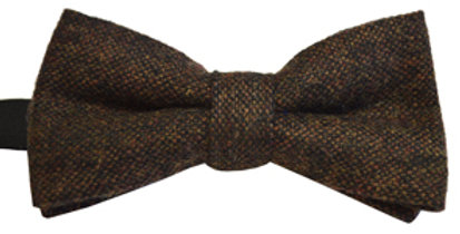 Brown Flecked Wool Mix Bow Tie