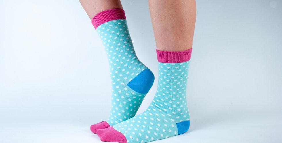 Size 3-7 Mint Spot Bamboo Socks