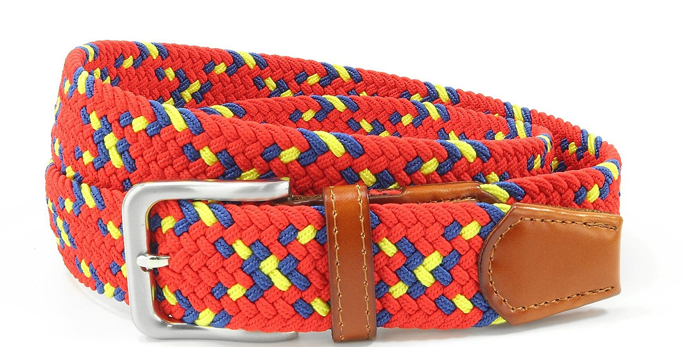 Red Speckled Woven Belt