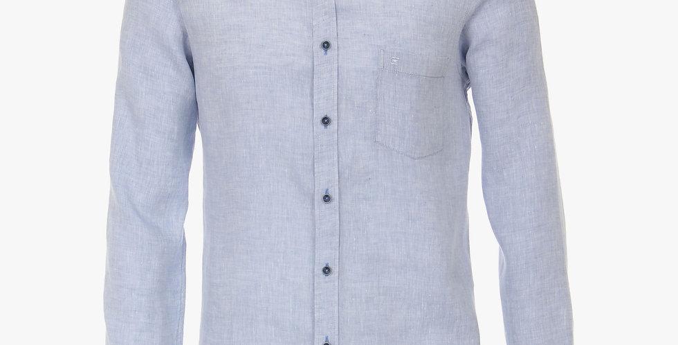 Pale Blue Linen Longsleeve Shirt