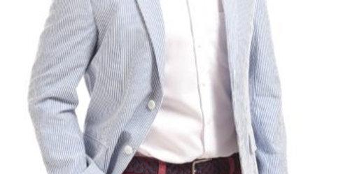 Pale Blue Striped Jacket