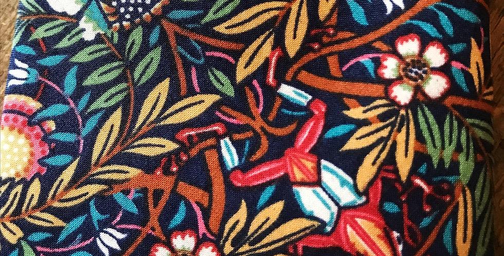 Liberty Print 'Peach Porter' Turquoise Tie