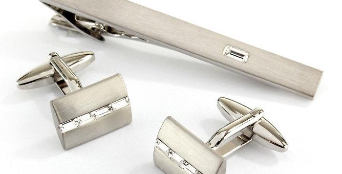 Cufflinks & Tie Bar Set