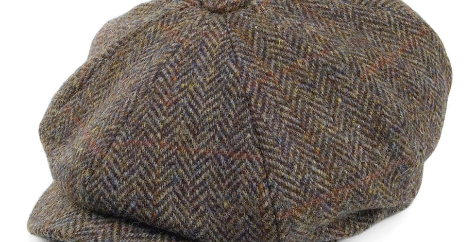 Brown Harris Tweed 8 Piece Cap