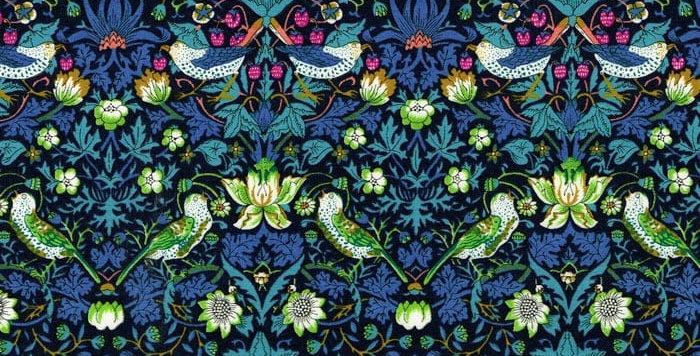 Liberty Print Green 'Strawberry Thief' Ties