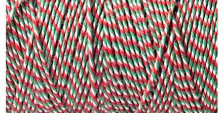 White, Red & Green Twine