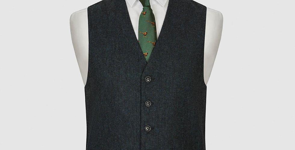 Blue Flecked Wool Mix Waistcoat