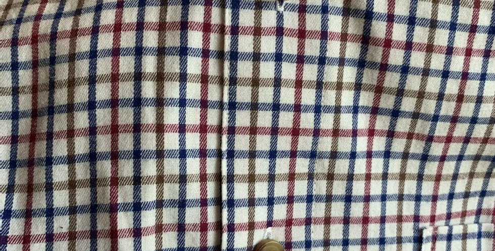 Red & Navy Check Checked Shirt