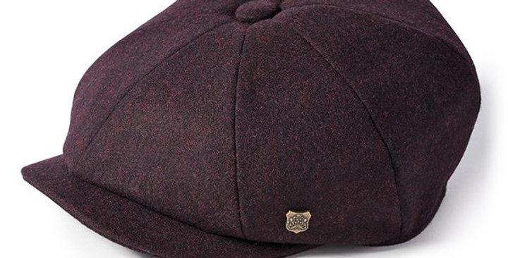 Merlot Melton Wool 8 Piece Cap
