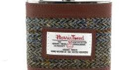 Brown Harris Tweed Hip Flask