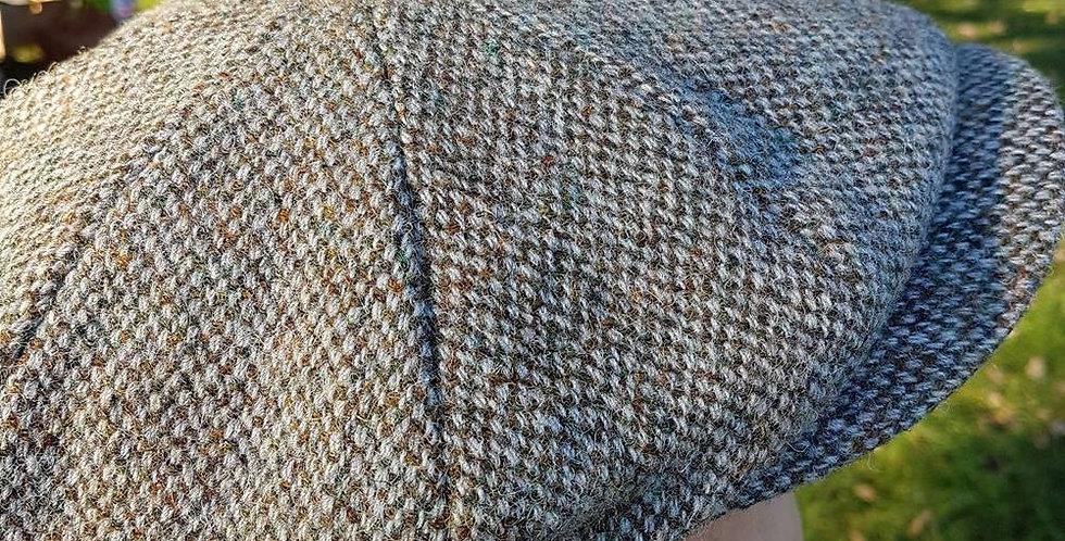 Light Green Harris Tweed 8 Piece Cap