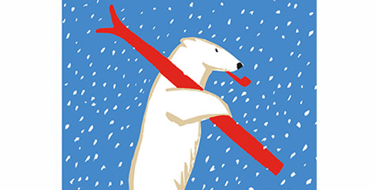Skiing Polar Bear Long Matches