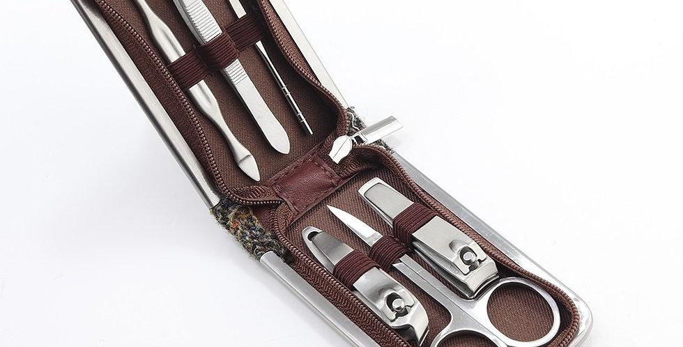 Brown Harris Tweed Nail Care Kit
