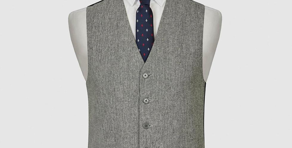 Light Grey Wool Mix Waistcoat