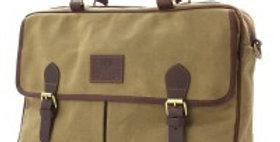 Khaki Waxed Canvas Messenger Bag