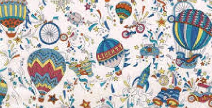 Liberty Print Blue 'Sky High' Ties
