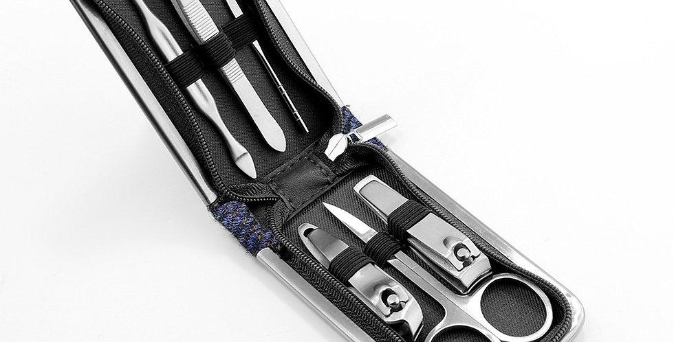 Blue Harris Tweed Nail Care Kit
