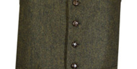 Green Flecked Wool Mix Waistcoat