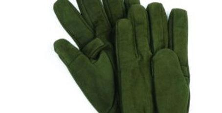 Green Nubuck Trigger Finger Gloves
