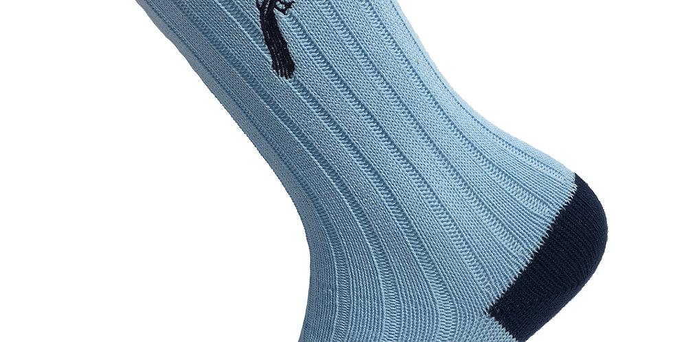 Sky & Navy Thick Socks