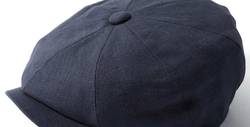 Blue Linen 8 Piece Cap